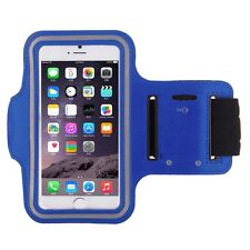 "iPhone 6 4.7"" Dark Blue Premium Sports Armband Cover Case Running Gym Workout"