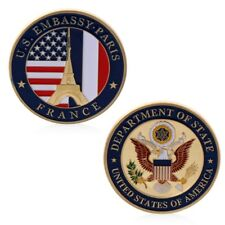 US Embassy Paris Department Of State Commemorative Challenge Coin Collection Art