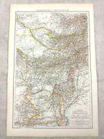 1895 Map Of Afghanistan Balochistan Alte Pakistan Antik 19th Century Victorian