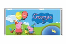 Peppa Pig Personalised Chocolate Wrapper Glossy 4x6 Party Favour