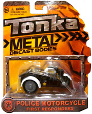Police Motorcycle with Sidecar First Responders Tonka Metal Diecast Bodies