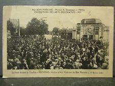 cpa 75 paris au bon marche exposition arts decoratifs 1925 pavillon pomone anime