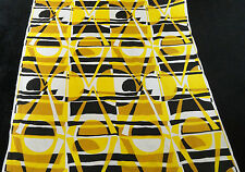 """Vtg Mod Op Art Abstract Rayon Blend Drapery Upholstery material   44"""" NOS yds"""