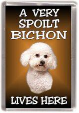 "Bichon Frise Dog No 1 Fridge Magnet ""A VERY SPOILT .. LIVES HERE"" by Starprint"