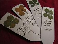 Personnalisez votre marque page avec 1 joli trèfle à 4 feuilles !