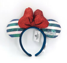 Red Bow 2020 Minnie Ears Pink Blue Disney Parks Shanghai Exclusive Headband
