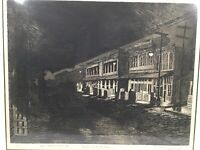 1962 San Francisco Hand Signed Numbered Etching By Rick Bersin Produce District