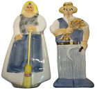 Vintage Les ARTISANS  Sigma the Tastesetter Wall Plaques Set of 2 Farm Country