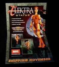 Bowen Designs Marvel Comics Elektra Statue Poster Promo New 2001 Daredevil
