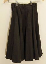 Vtg L&T Gored Seamed Black Flare Circle Party Tailored Fluted Full A Line Skirt