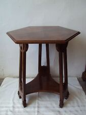 Antique Art Nouveau table,mahogany wood, 1910