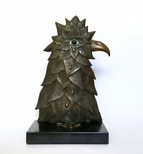 Renzo Margonari Surrealist Bronze Crying Bird Sculpture 13/55 1971 Italy Vintage