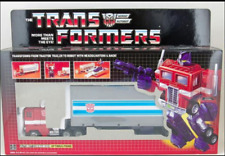 TRANSFORMERS AUTOBOT Optimus Prime tractor to Robot G1 Reissue Free +