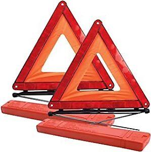 2 X Car Warning Triangle Proline Reflective Breakdown Hazard Road Emergency NEW