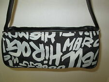 Black Graphic Typeography Design Hand Bag, NEW