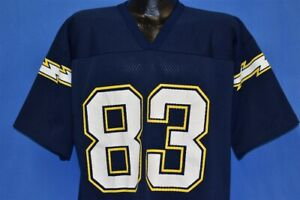 vtg 90s SAN DIEGO CHARGERS ANTHONY MILLER #83 LOGO 7 MESH NFL FOOTBALL JERSEY L