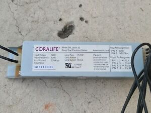 Coralife SPL-265R-JS 65W dual straight 4 pins Power Compact Light Ballast