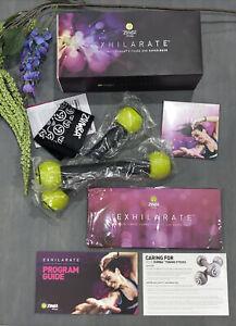 Zumba Fitness Exhilarate Body Shaping System 7 Disc DVD Set Toning Sticks Slider