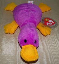 New listing Rare TY Beanie Baby Patti the Platypus,1993 w/Original P.V.C. Pellets Style 4025