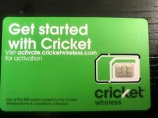 New Cricket Wireless Universal sim card , Nano, Micro, Standard fits all phones