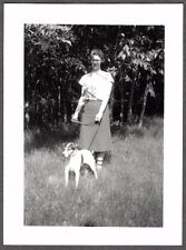 VINTAGE PHOTOGRAPH 1939 JACK RUSSELL TERRIER DOG CANADA WEBB'S FARM OLD PHOTO