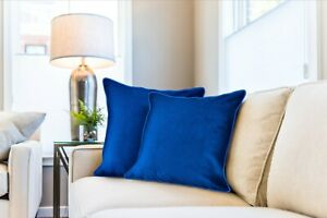 Plush Velvet soft touch Cushion Covers Sofa Pillow Soft Cushions piped detail