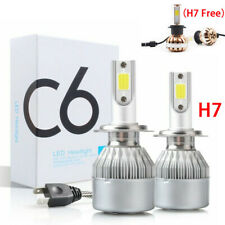 2Stück H7 LED Auto Nachrüstsatzglühlampen DRL Scheinwerfer Birne Lampe 60W 6000K