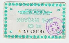 LOCAL NOTE 20 KUNA CROATIA UNIVERSITY OF RIJEKA (FIUME) OPATIJA - VINTAGE, RARRE