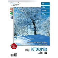 "Tintenstrahl-Papier: 100 Blatt Inkjet-Fotopapier ""Arktic"" matt 180g/m² A4"