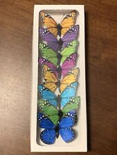 8 x Butterflies assorted Colors 2