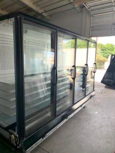 5 Door Hussmann RL Freezer/cooler Remote Glass Door Reach In Elect Def...