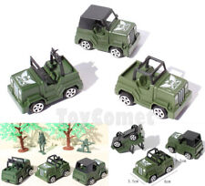 3 pcs Military Jeep Car Vehicle Models Plastic Toy Soldier Army Men Accessories