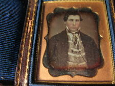 1850's 1/9th Plate Daguerreotype Of A Handsome Young Man