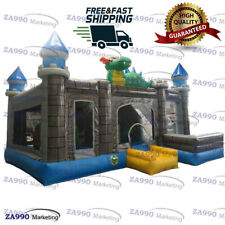 20x16x11.5ft Commercial Inflatable Dinosaur Bounce House With Air Blower