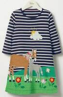 Mini Boden Dress Tunic Applique Horse Forest Friends Age 2 3 4 5 6 7 8 9 10