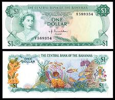 Bahamas 1 DOLLARO Donaldson (P35A) L. 1974 QEII AU / UNC