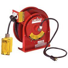 Lincoln 91032 Cable Reel 45 'RESISTENTE, Duplex salida caja, gfci