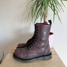 DR MARTENS 2B34 RED BROWN LEATHER LACE UP BOOTS 5 CHUNKY VTG 10 HOLE BURGUNDY