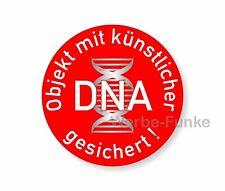 5 Aufkleber Objekt mit künstlicher DNA gesichert 30 mm,  Alarm Überwachung