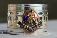 BRITISH INDIA LINE HMT ROHILLA SOUVENIR NAPKIN RING WW1 DISASTER WRECK TROOPSHIP