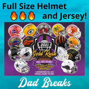 INDIANAPOLIS COLTS autographed Gold Rush Full-Size Helmet + Jersey: 2 BOX BREAK