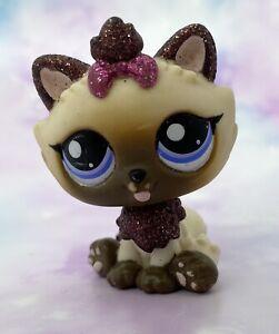 Littlest Pet Shop Authentic # 2143 Cream Brown Pink Himalayan Glitter Blue Eyes