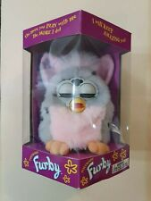 Brand New! 1998 Furby 70-800 Tiger Electronics Grey With Spots, Pink Belly
