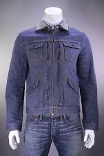* LOUIS VUITTON * Light Wash Denim-Jean Zip Front Cafe Jacket~ 42/Large
