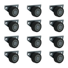 12 x 30 mm Kastenrolle Bettkastenrolle Kastenbockrolle Seitenrolle mit Softrad