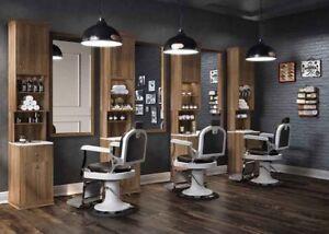 560 Barber Station Friseureinrichtung - Friseurstuhl - Waschsessel