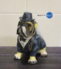 English Bulldog Mr Dog Hand Painted Resin Figurine Statue