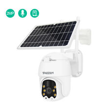 TMEZON Wireless WiFi 1080P Solar Battery Camera 4x Zoom Outdoor IP Dome CCTV Lot