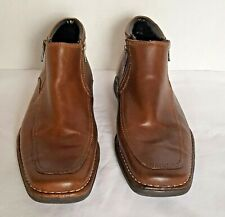 Kenneth Cole Reaction Wild Punch Men's Size 10M Leather Upper Zip Up Brown Shoes