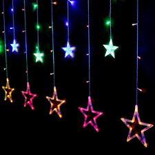 CATENA LUMINOSA STELLA LUCE 8 EFFETTI RGB STELLE LUCI LED NATALE FESTE ADDOBBI